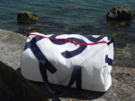 1 Personalised White Sailcloth Kit Bags