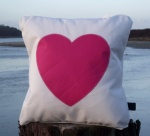 Star and Heart Sailcloth Cushions