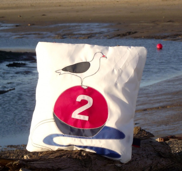 3a  Buoys and gulls personalised Cushion