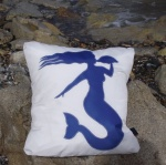 4c  Mermaid Sailcloth Cushion