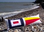 Personalised International Signal Flags Bench/Bed cushions