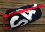 Personalised Coloured Canvas Wash Bags