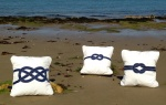 Set of 3 Nautical Knot cushions