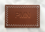 Available now - Personalised embossed leather wash bags